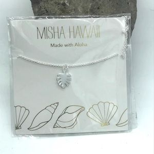 Misha hawaii Monstera Leaf Necklace